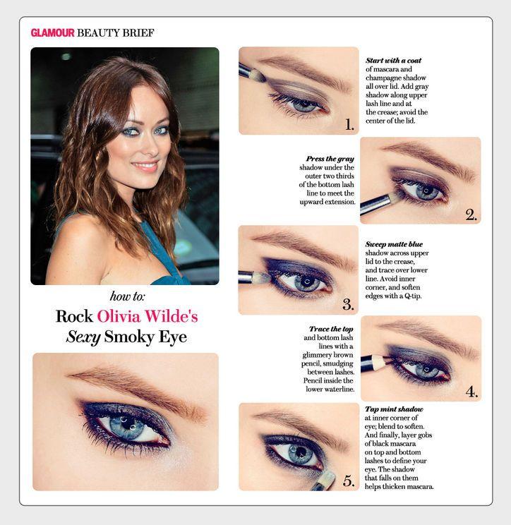 Olivia Wilde's smoky eye in 5 steps