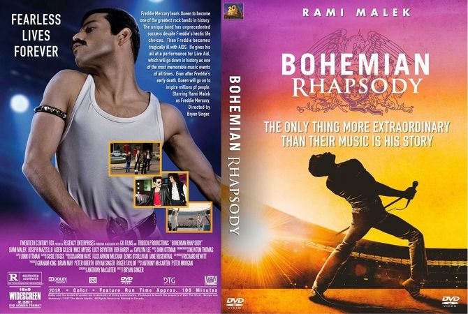 Bohemian Rhapsody 2018 Dvd Custom Cover Custom Dvd Cover Designs