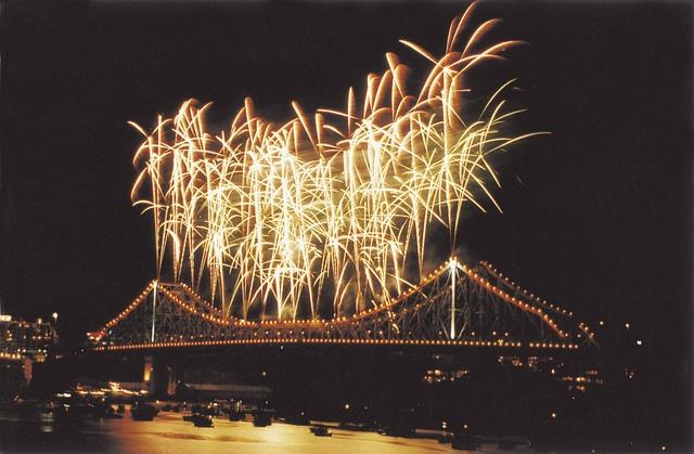 Riverfire Fireworks on Story Bridge, Brisbane