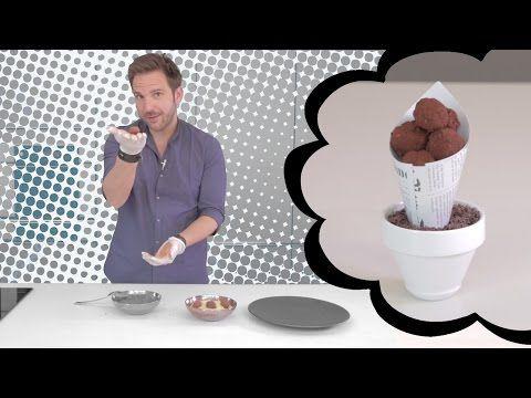 Truffes au chocolat façon météorites par Christophe Michalak - YouTube