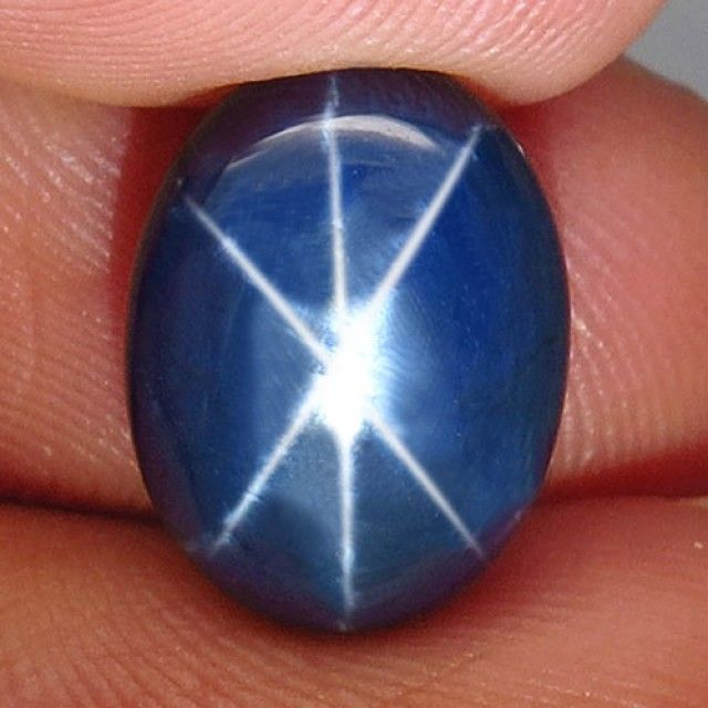 6.12 Carat Diffusion Star Sapphire - Cool star  sapphire, cabochon sapphire