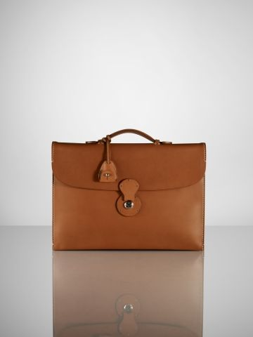 Ralph Lauren Leather Cooper Briefcase