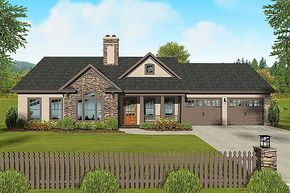 plan 20110ga 3 bed ranch with angled hall in 2018 for the home rh pinterest com