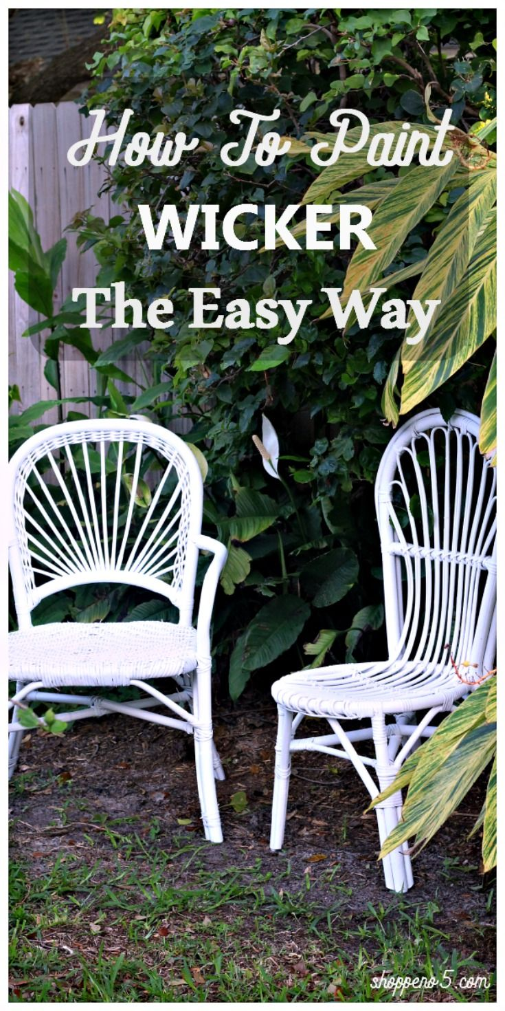 I have had these wicker chairs with the thought of…