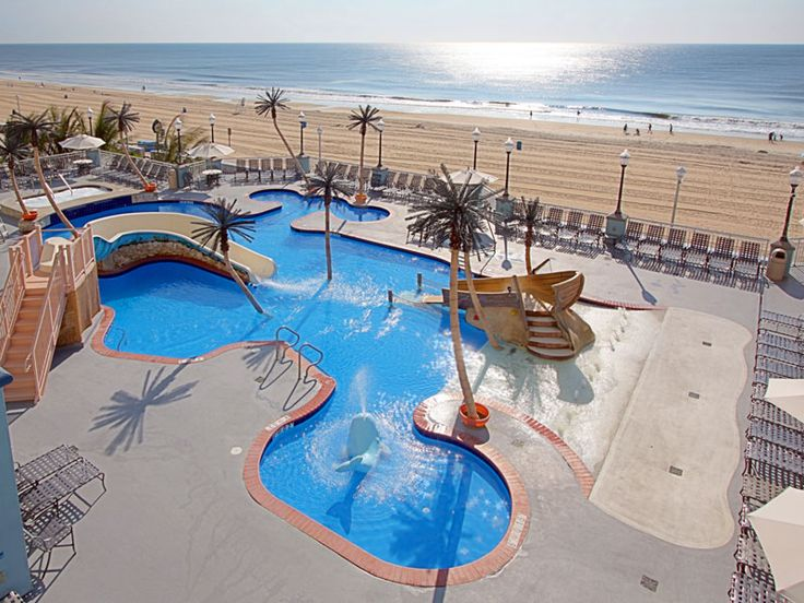 Perfect pool for kids! Holiday Inn Hotel and Suites in Ocean City on 17th Street and the boardwalk. #ocmd