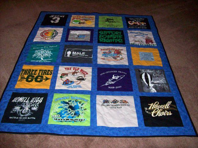 27 best T-Shirt Quilts images on Pinterest | Calendar, Colleges ... : easy t shirt quilt instructions - Adamdwight.com