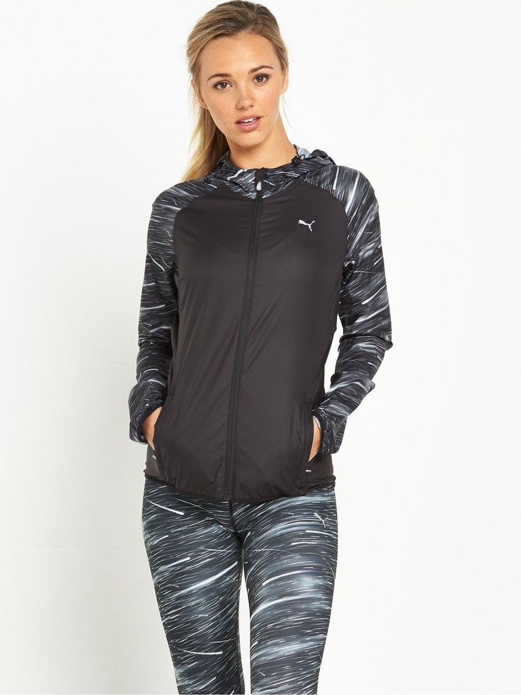 Puma NightCatRunning JacketMake sure your seen on early morning and evening runsthis season with the360°hyper-reflective details of this NightCat running jacket by Puma! Featuring windCELLand a Durable Water Repellent finish, it's just the ticket for when the elements are against you, whileair vents to the back maintain its breathabilityso you're never over heating. Complete with apocket to the backthatallows the jacket to be packed in on itself, it's a practical pick that len...