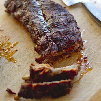 Travers de porc grillés àla texane