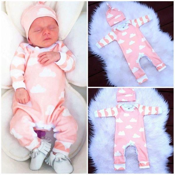 Toddler Newborn Kids Baby Boy Warm Romper Outfits Hat+Jumpsuit Clothes Bodysuit