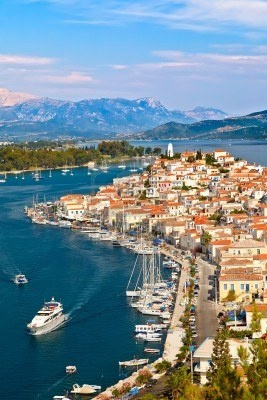 Vista de Poros, Grecia