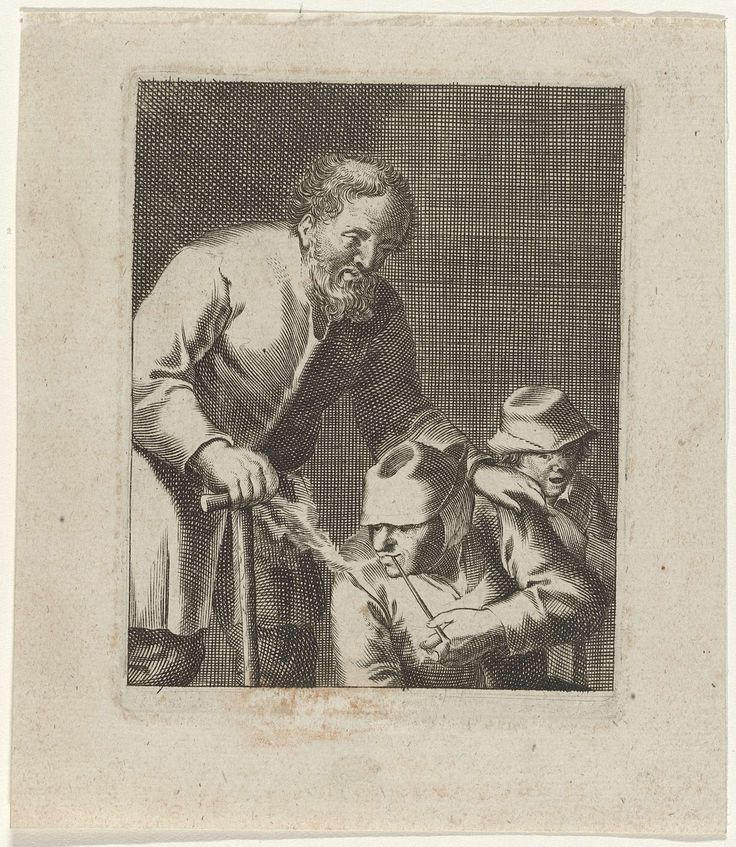 Drie figuren / La femme qui fume dit aussi les trois gueux marchant de compagnie, Jacques Dassonville, after c. 1630 - before 1670