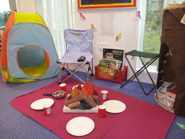 Camping theme role play area
