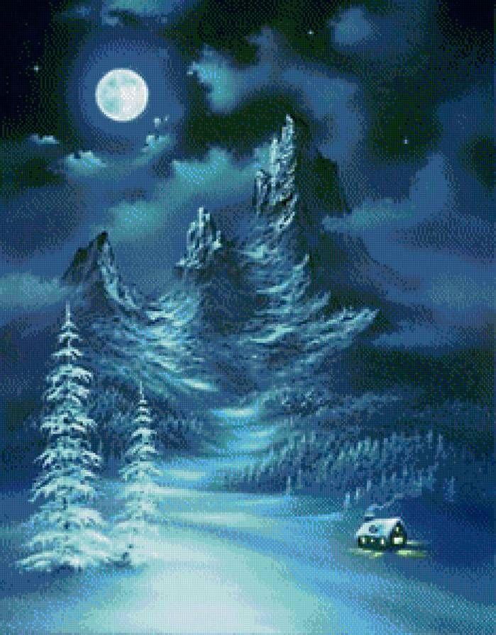 тиха рождественская ночь.