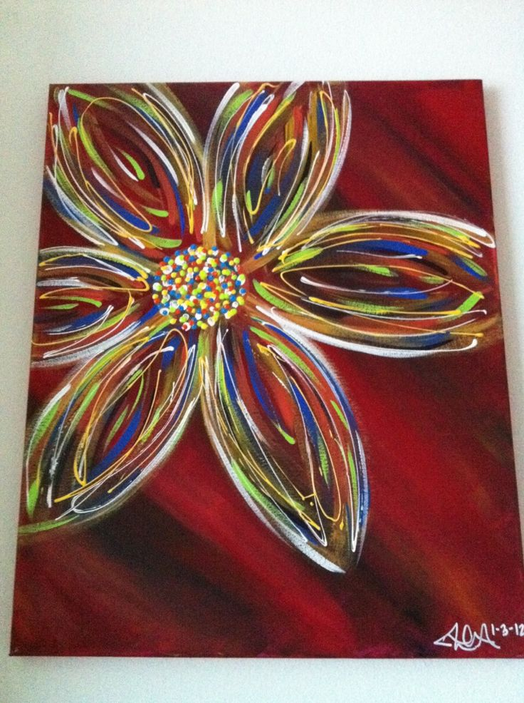 Must Do:::Masterpiece Mixers Is One Of My Favorite Places To Visit When I  Get My Paint On. This Is My Own Result From Taking The Abstract Flower  Class More ...
