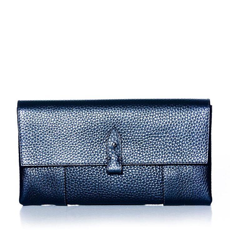 DECADENT 484 Clutch with detail Midnight blue