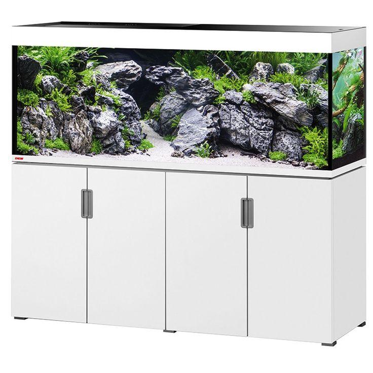 Animalerie  Ensemble aquarium/sous-meuble EHEIM incpiria 500  blanc brillant