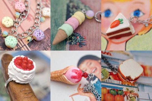 yummy polymer handmade jewelry & accessories. adorable for the nieces.
