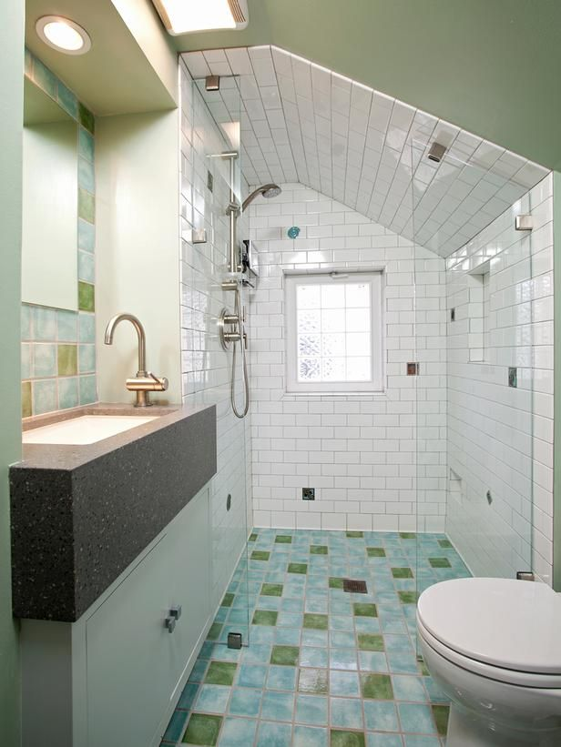 Bathroom Design and Remodeling Trends : Home Improvement : DIY Network /  o-threshold showers along with comfort-height toilets, vanities and side-mount faucets are gaining in popularity for very practical reasons. Curbless showers are easier to clean, they make your bathroom look bigger, and they help homeowners to age in place.