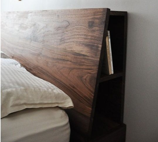 unique side storage, angled surface for upright lounging - 21 Best Nigel's Headboard Images On Pinterest Headboards
