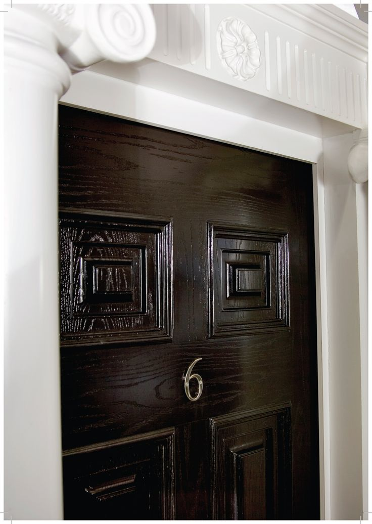 Colour- Bog Oak Picture also shows clearly the wood grain effect which is present : doors collection - pezcame.com