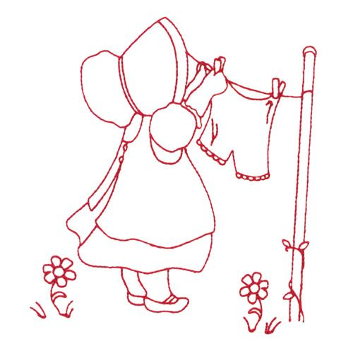 Sunbonnet Sue Embroidery Designs by Amazing Designs on a Multi-Format CD-ROM ADC-150J