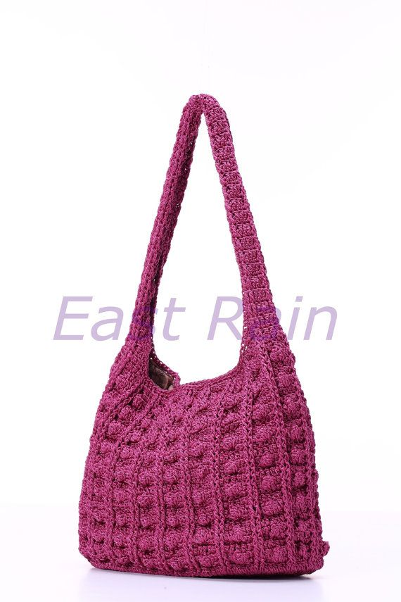 crochet crochet bag shoulder bag handbag handmade girl by EastRain