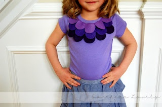 Petal shirt-too cute. Too bad we don't have any girls young enough to be into this...maybe I'll make one for me. :D
