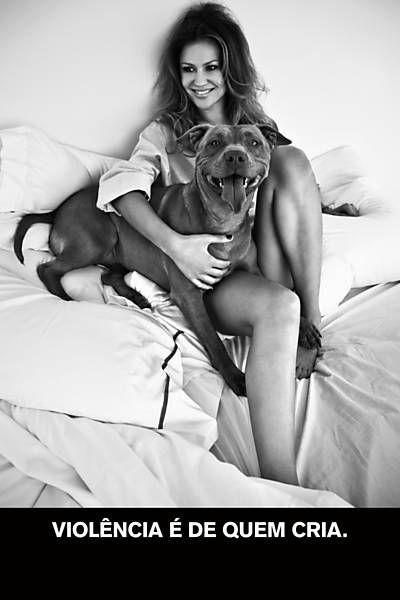 Ellen Jabour é fotografada em prol de conscientização sobre necessidades e cuidados a animais domésticos.
