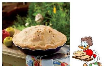 Torta di mele di nonna Papera - Ricetta per preparare la torta di mele di nonna Papera, quella che trovate in tutti i fumetti Disney e con la quale Ciccio si faceva delle belle scorpacciate.