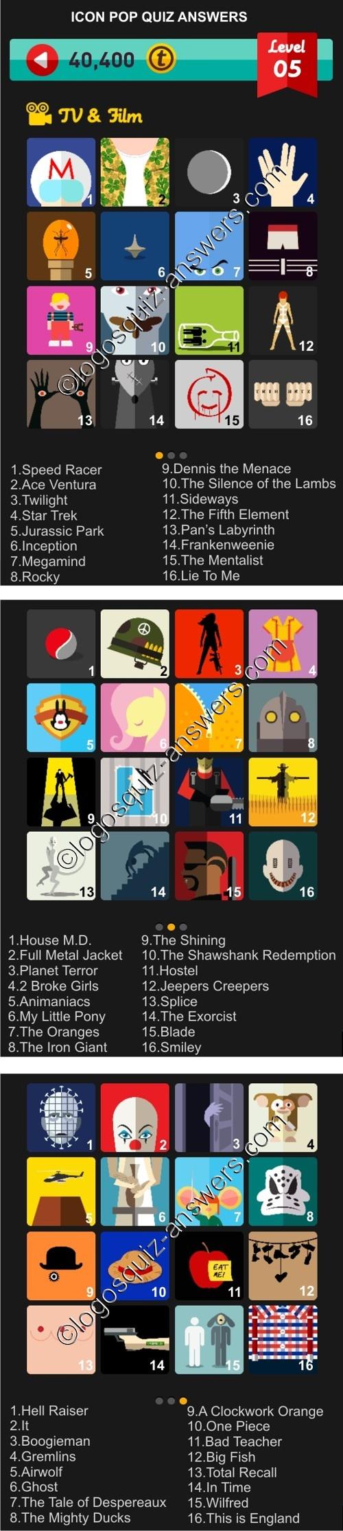 Poster design for quiz - Level 5 Tv And Film Quiz