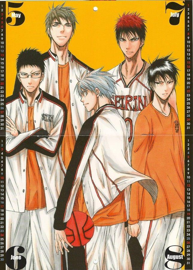 Kuroko no Baske: Kuroko no Basket 2012 Calendar - May/Jun/Jul/Aug