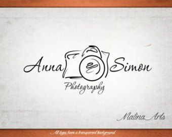 Photography logo design and photography watermark. Camera Logo by MalinaPhotoLogos | Etsy