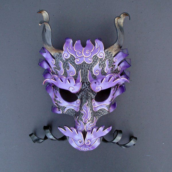 Royal Asian Dragon Mask by merimask.deviantart.com on @deviantART