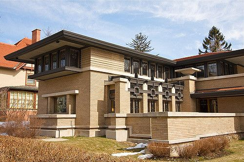 Meyer May House. 1909. Grand Rapids Michigan. Prairie style.Frank Lloyd Wright