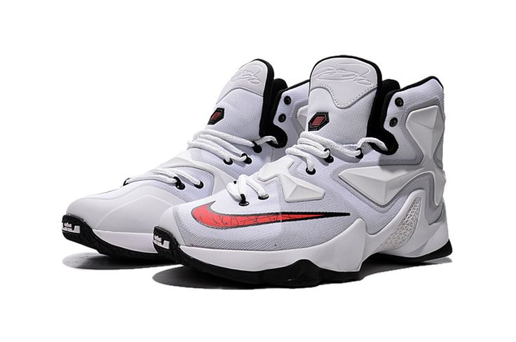 Cheap Nike LeBron XIII 13 White Black Basketball Shoes 2015 New Release on sale