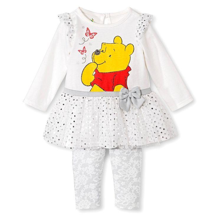 Winnie the Pooh Newborn Girls' Dress Set - Beige 0-3 M