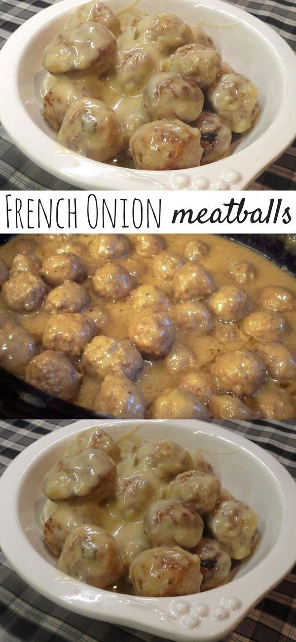 1 can(s Cream of mushroom soup. 1 can(s Cream of onion soup. 1 pkg Onion soup mix, dry. 1 pkg Great value brand homestyle meatballs or your favorite brand of frozen meatballs. 1 can(s Water.