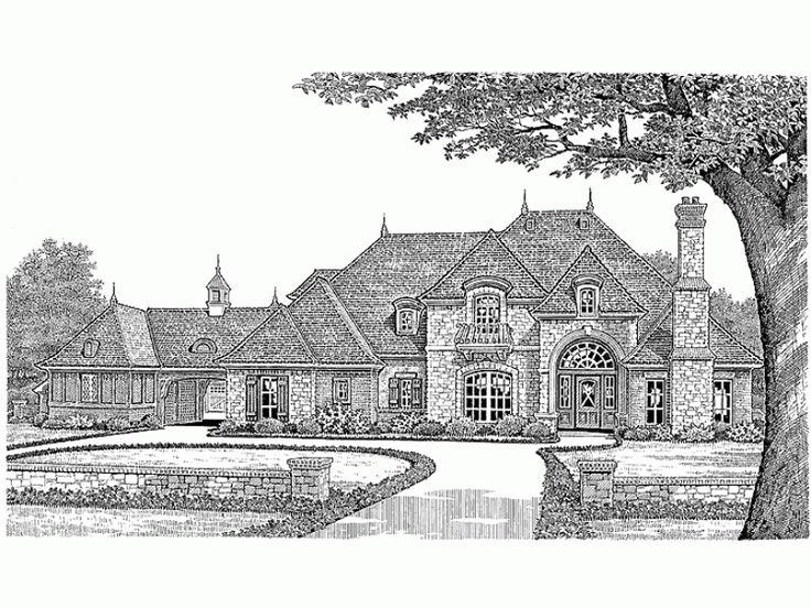68 best house plans images on pinterest country houses for French country house plans with porte cochere