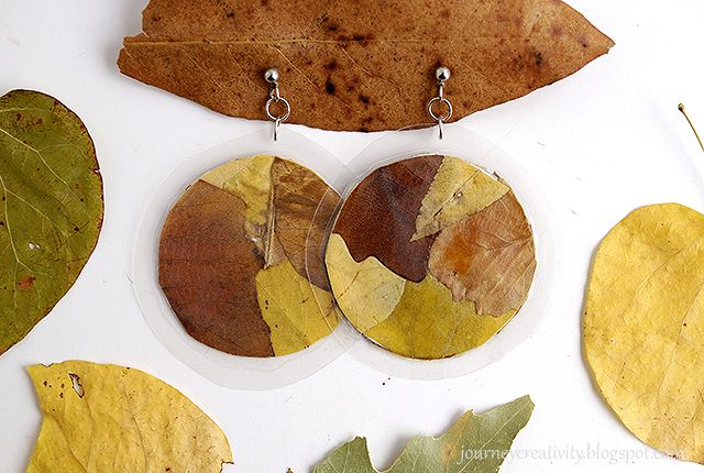 Journey into Creativity: Leaf earrings