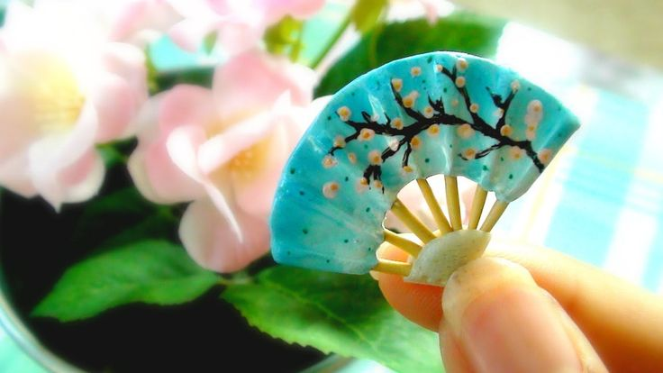 Miniature Japanese Fan Tutorial (Polymer Clay)