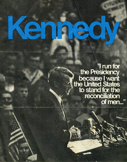 An ad from Bobby Kennedy's 1968 presidential campaign