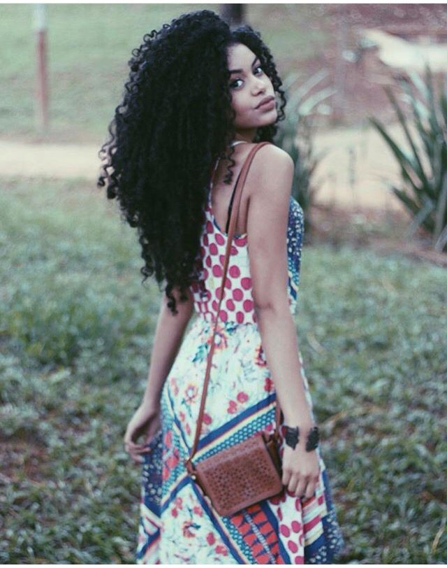 @steffany_borges    long curly hair. Long natural hair. Curly waist length hair…