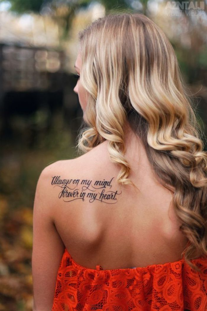 Tattoo saying for women in red dress a tattoo about eternal love