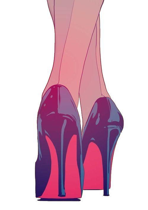 drawing art girl tumblr fashion heels shoes cartoon black Grunge … – #Art #Bla…