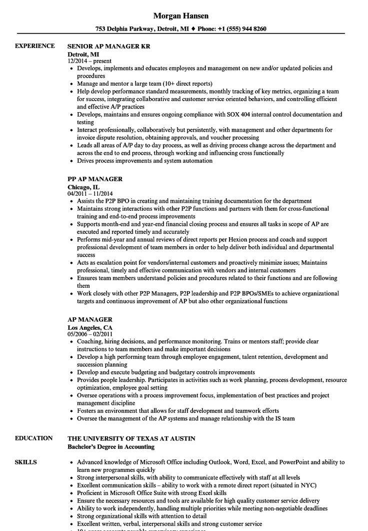 Accounts payable resume sample new 10 accounts payable