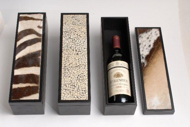 Animal skin wine boxes | Giftware | ASHANTI