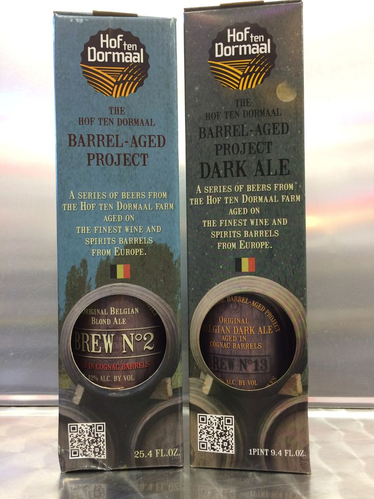 Now available! The Hof ten Dormaal Barrel-Aged Project.  A series of beers from the Hof ten Dormaal farm aged on the finest wine and spirits barrels from Europe. Brew No. 2 is a Belgian blond ale aged in cognac barrels, 12% abv.  Brew No. 13 is a Belgian dark ale aged in cognac barrels, 12% abv.  Both are produced in very limited quantities.
