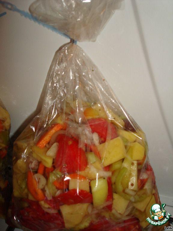 Овощное рагу в рукаве ингредиенты