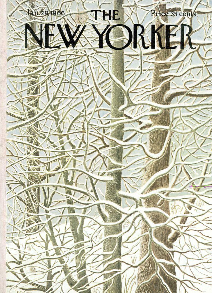 The New Yorker - Saturday, January 29, 1966 - Issue # 2137 - Vol. 41 - N° 50 - Cover by : Ilonka Karasz