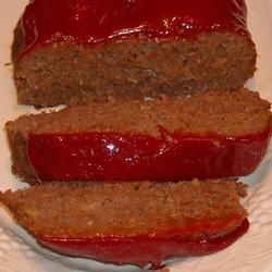 good meatloaf! substitutes that worked: no MSG, oatmeal for breadcrumb, ground turkey, Onion-Onion and Bacon-Bacon!